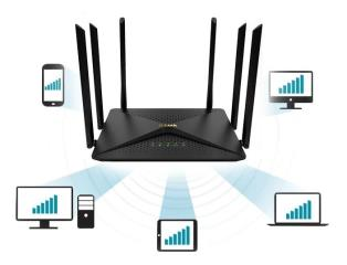 Router Wireless MU-MIMO Gigabit AC1200 DIR-846