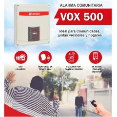 KIT ALARMA COMUNITARIA LINSEG VOX 500 / PERIFONEO X CELULAR